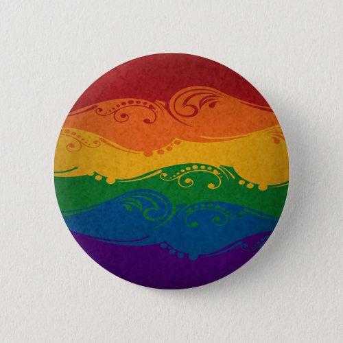 Ornamental Rainbow Flag Button