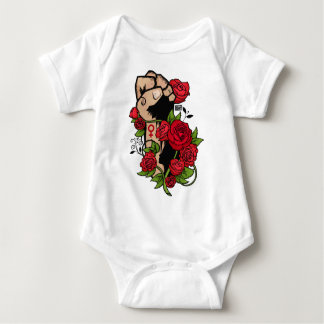 Ornamental Rose Resist Hands Up Fist Womens Rights Baby Bodysuit