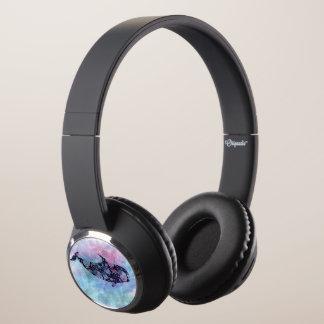 Ornamental Silhouette Whale Headphones
