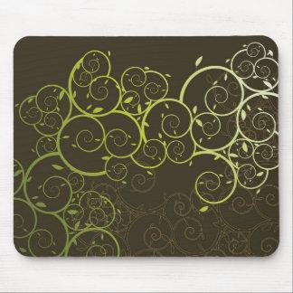 Ornamental Spiral Vine Pattern Modern Mousepad