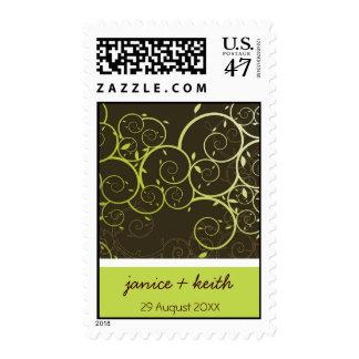 Ornamental Spiral Vines Elegant Wedding Stamps