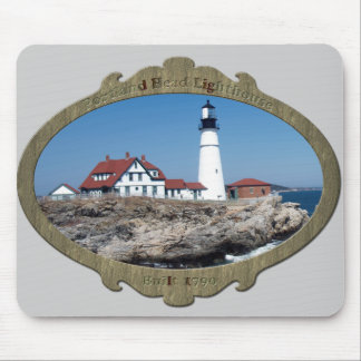 Ornamental Stone Frame Portland Head Mouse Pad