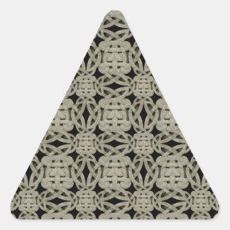 Ornamental Stone Pattern Triangle Sticker