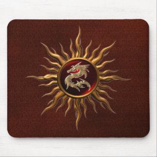Ornamental Sun Dragon Mouse Pad