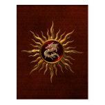 Ornamental Sun Dragon Postcard