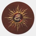 Ornamental Sun Dragon Sticker