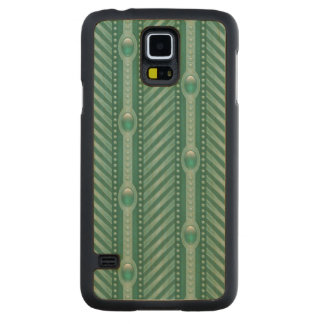 Ornamental Teal Pattern Carved® Maple Galaxy S5 Case