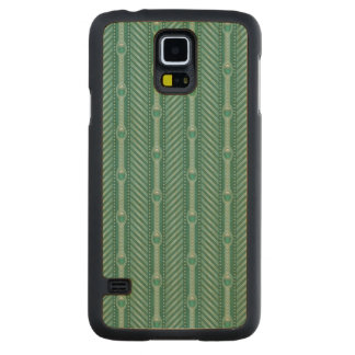 Ornamental Teal Pattern Carved® Maple Galaxy S5 Slim Case