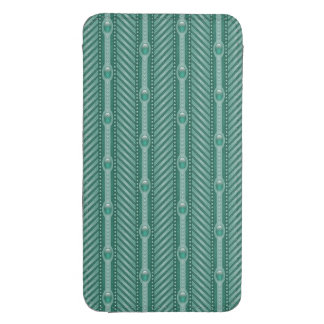 Ornamental Teal Pattern Galaxy S4 Pouch