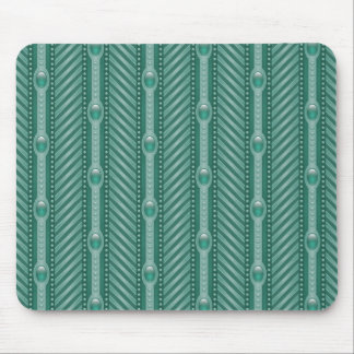 Ornamental Teal Pattern Mouse Pad