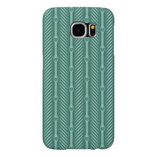 Ornamental Teal Pattern Samsung Galaxy S6 Cases