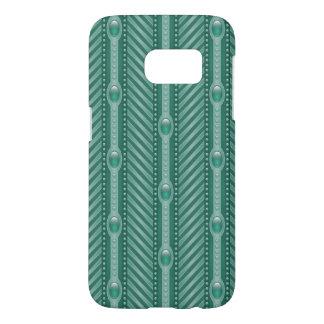 Ornamental Teal Pattern Samsung Galaxy S7 Case