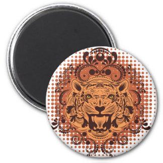 Ornamental Tiger Portrait Magnet