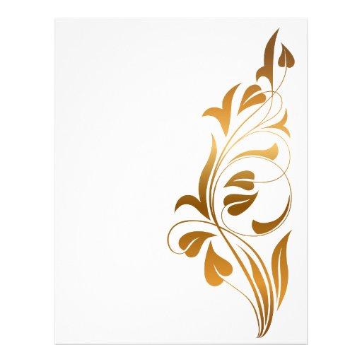 Ornamental white background customized letterhead