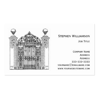 Ornamental Wrought Iron Gate Metal Architectural Business Card