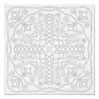 OrnaMENTALs #0005 Crisscross Color Your Own Poster
