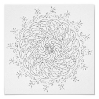 OrnaMENTALs #0009 Swirling Seasons Color Your Own Poster