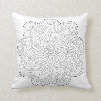OrnaMENTALs #0010 Catch the Wave Color Your Own Throw Pillow