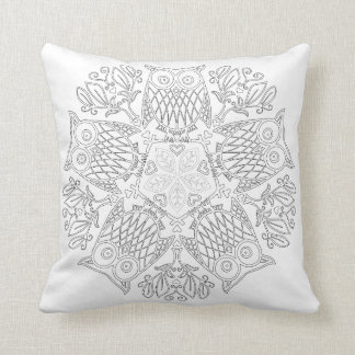 OrnaMENTALs #0014 Parliament Color Your Own Throw Pillow