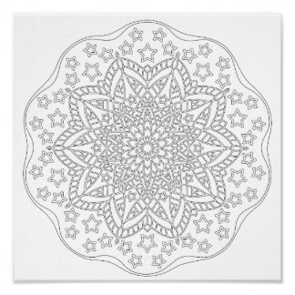 OrnaMENTALs #0015 Stars and Stripes Color Your Own Poster