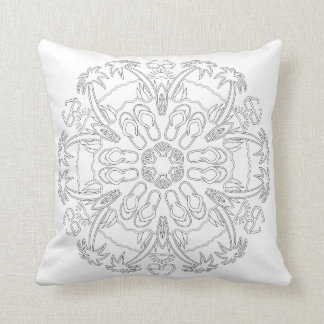 OrnaMENTALs #0020 Day at the Beach Color Your Own Throw Pillow
