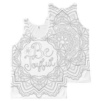 OrnaMENTALs #0022 Be My Mandalatine Color Your Own All-Over Print Tank Top