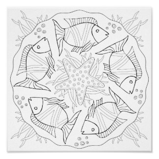 OrnaMENTALs #0023 Something Fishie Color Your Own Poster