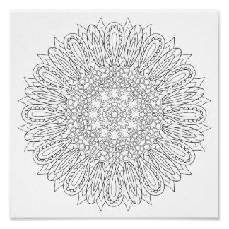 OrnaMENTALs #0025 Sunflower Delight Color Your Own Poster