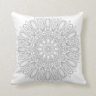 OrnaMENTALs #0025 Sunflower Delight Color Your Own Throw Pillow