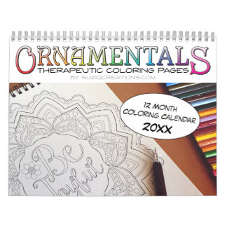 OrnaMENTALs 12-Month Therapeutic Coloring Pages Calendar