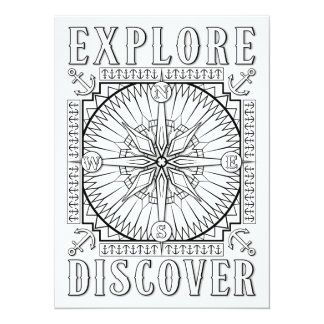 OrnaMENTALs Explore and Discover Color Your Own Card
