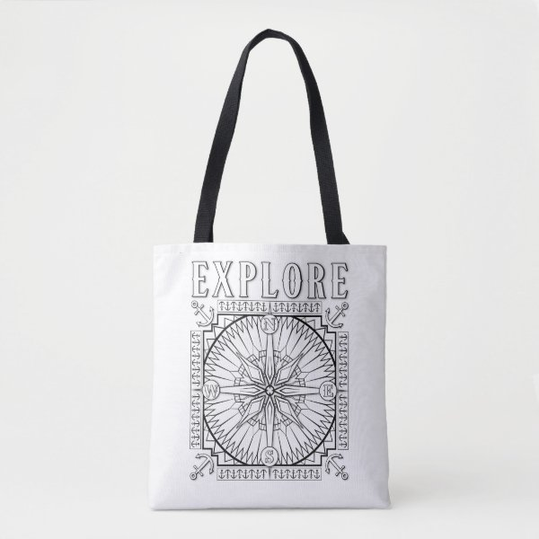 OrnaMENTALs Explore and Discover Color Your Own Tote Bag