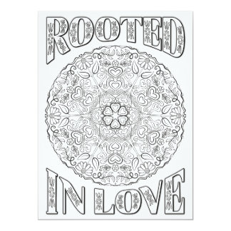 OrnaMENTALs Rooted in Love Mandala Color Your Own Card