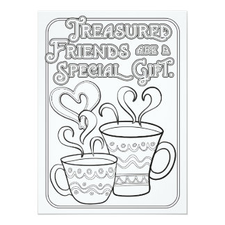 OrnaMENTALs Treasured Friends Color Your Own Card