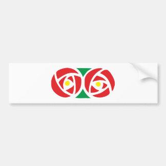 Ornamentation art nouveau kind Nouveau Bumper Sticker