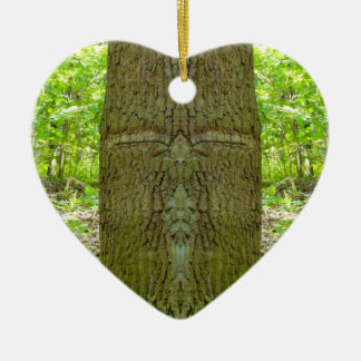 Ornamentation - Buddha Tree Collection Double-Sided Heart Ceramic Christmas Ornament