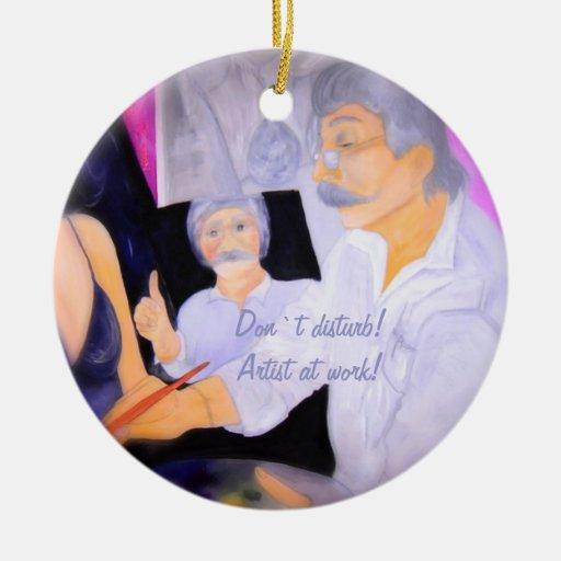 Ornamentation `` Don ` t disturb! Kindist RK work! Ceramic Ornament