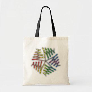 Ornamentation pentagon calligraphy Pentagon Canvas Bags