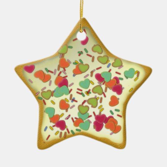 "Ornamentation star ""Christmas cookie"" Var02 Ceramic Ornament"