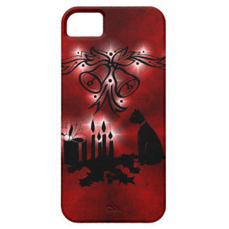 Ornamentations with stars and Christmas of cat on Funda Para iPhone SE/5/5s