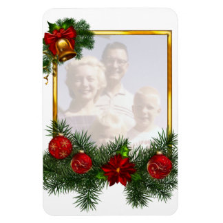 Ornamented Christmas Picture Frame Magnets