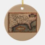 Ornamento 1584 del mapa de la Florida del La Adorno De Reyes
