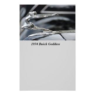 "Ornamento 1934 de la capilla de la diosa de Buick Folleto 5.5"" X 8.5"""