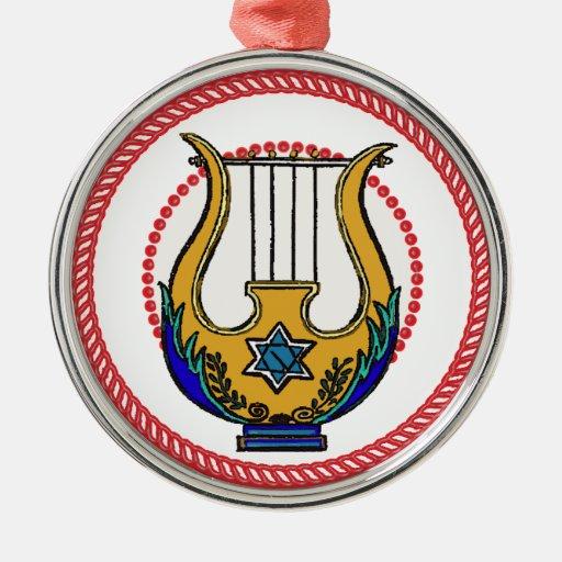 Ornamento #1 de la arpa de Jesse Ornamento Para Reyes Magos