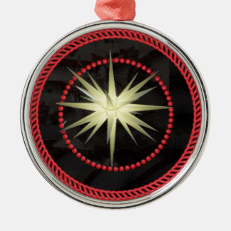 Ornamento #1 de la estrella de Jesse Adorno Redondo Plateado
