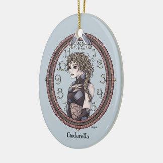 Ornamento #1 del arte de la fantasía de adorno navideño ovalado de cerámica