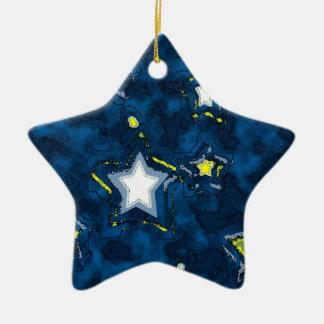 Ornamento #1 del cielo de Stary Adorno Navideño De Cerámica En Forma De Estrella