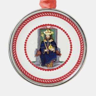 Ornamento #1 del Scepter del árbol de Jesse Adorno Redondo Plateado