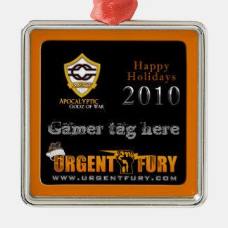 Ornamento 2010 de AGW Chrstmas Adorno Navideño Cuadrado De Metal