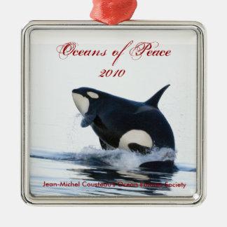 Ornamento 2010 del día de fiesta de la orca ornamentos de navidad